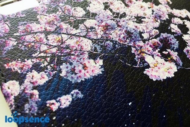 オリジナル手帳型スマホケース「ソメイヨシノ 桜-sakura-No.2」