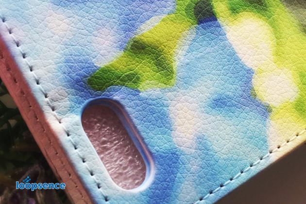 手帳型ケースの表面素材写真