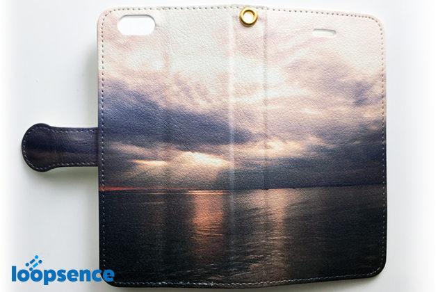 夕暮れの空と海/オリジナル手帳型スマホケース全体のデザイン