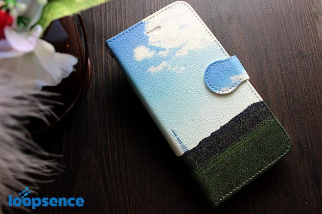いつかの緑とソラ/オリジナル手帳型スマホケース