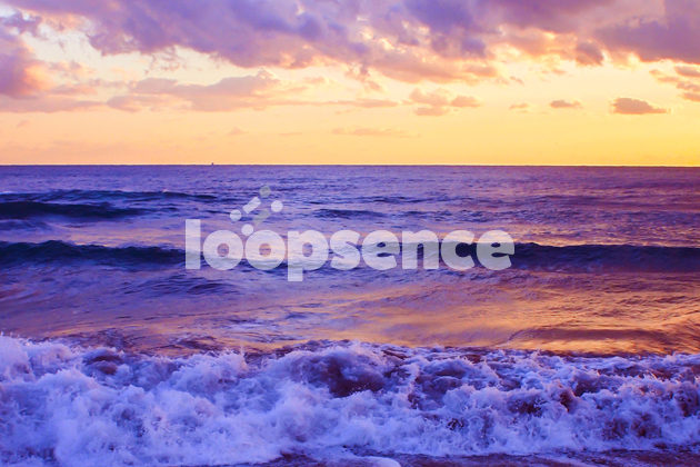 夕暮れの海岸。ループセンスオリジナル写真販売。