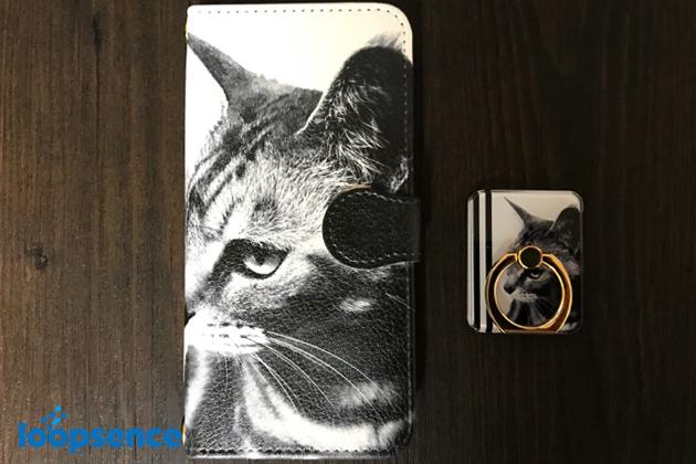 ループセンス猫のオリジナル手帳型スマホケース