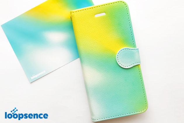 ループセンスオリジナル。【受注生産】Aurora Blue:オーロラブルー/オリジナル手帳型スマホケース