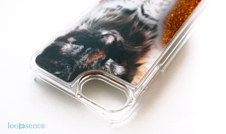 ループセンスオリジナル猫のグリッターケース