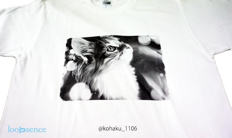 ループセンス。猫のオーダーTシャツ作品