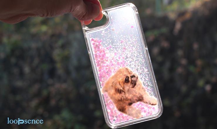 ループセンス、犬のオリジナルグリッターケース