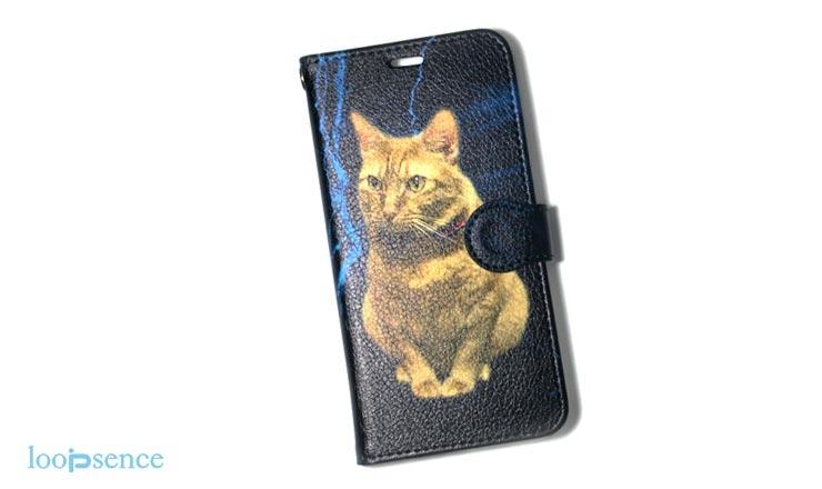 iPhoneXS用ループセンス愛猫のオーダースマホケース作品